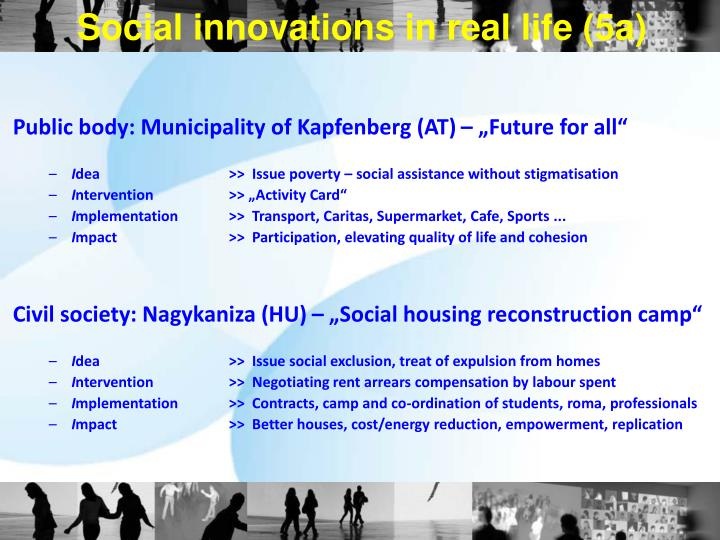 Social innovations in real life (5a)