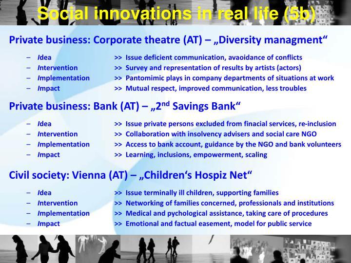 Social innovations in real life (5b)