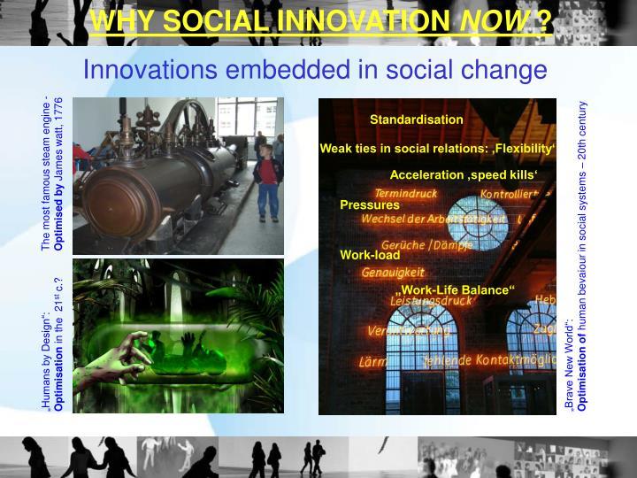 WHY SOCIAL INNOVATION