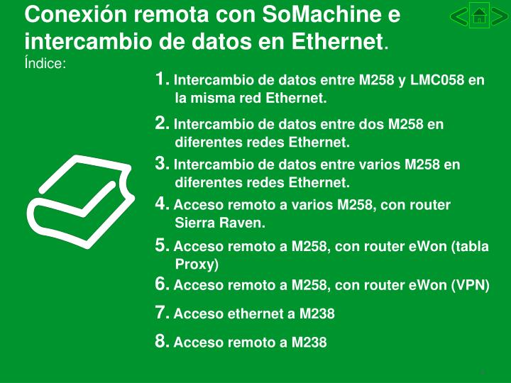 Conexi n remota con somachine e intercambio de datos en ethernet ndice