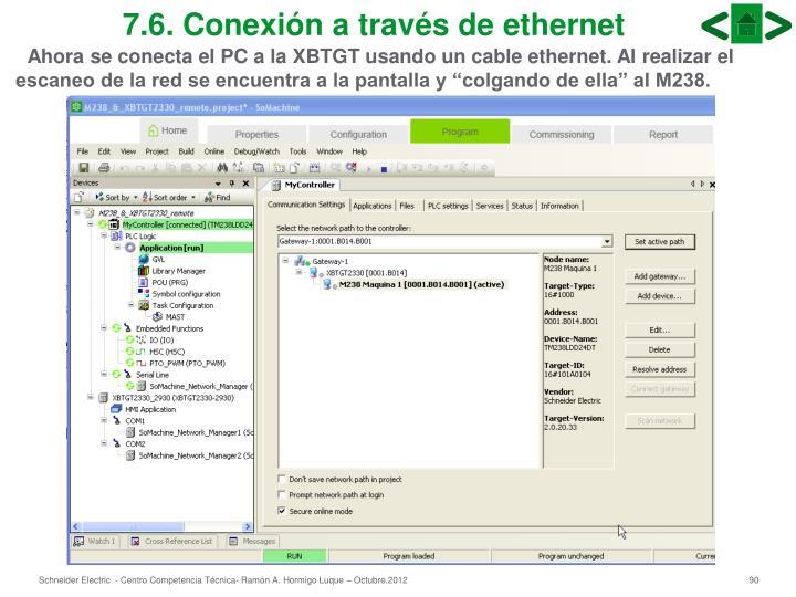 7.6. Conexión a través de ethernet