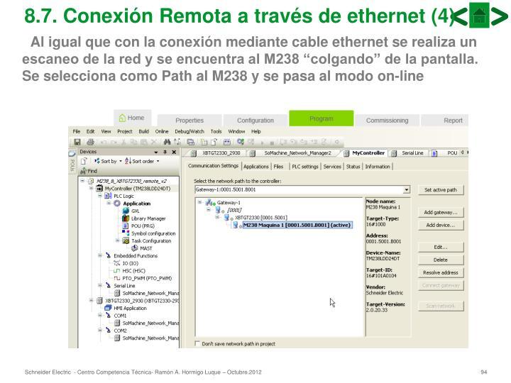 8.7. Conexión Remota a través de ethernet (4)