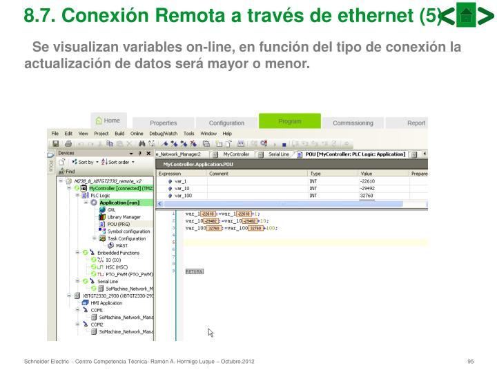 8.7. Conexión Remota a través de ethernet (5)