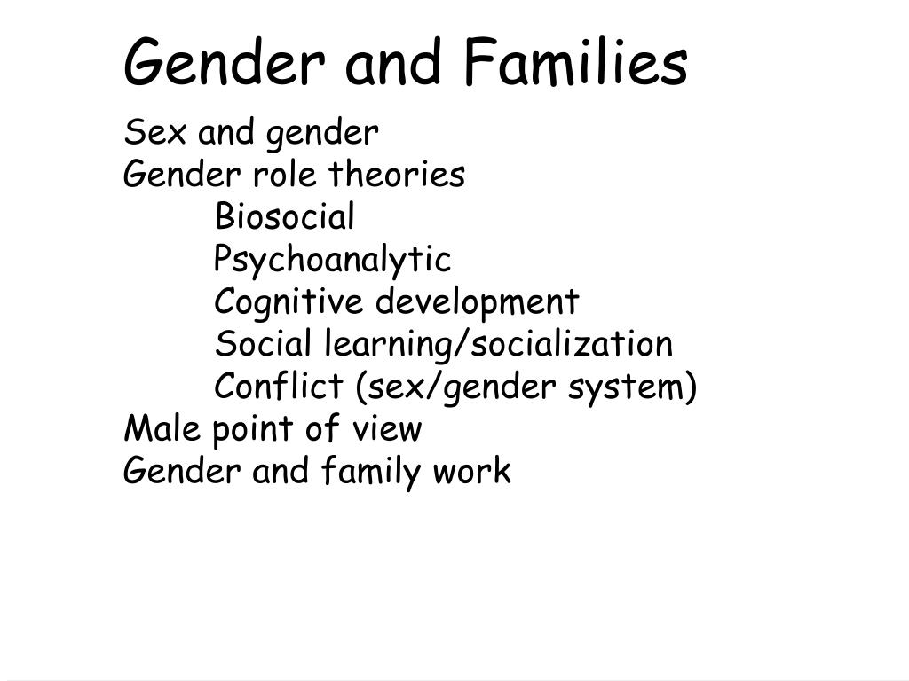 What is the sex gender system