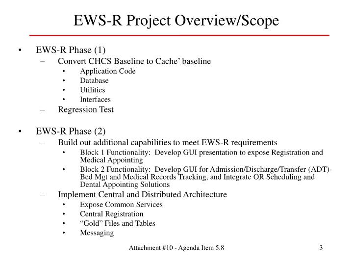EWS-R Project Overview/Scope
