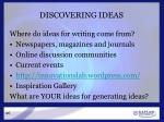 discovering ideas