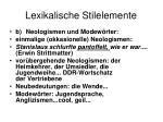 lexikalische stilelemente2