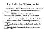 lexikalische stilelemente5