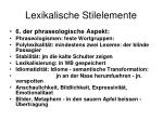 lexikalische stilelemente6