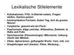 lexikalische stilelemente7