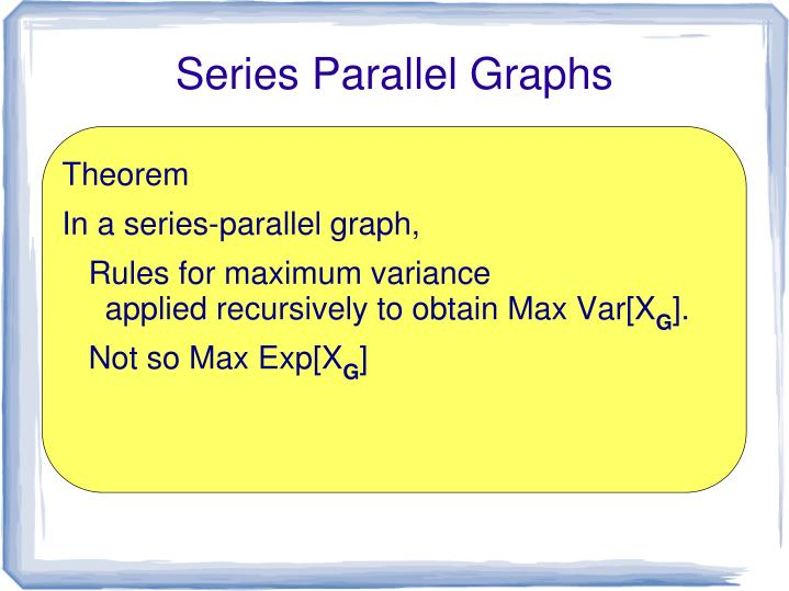Series Parallel Graphs