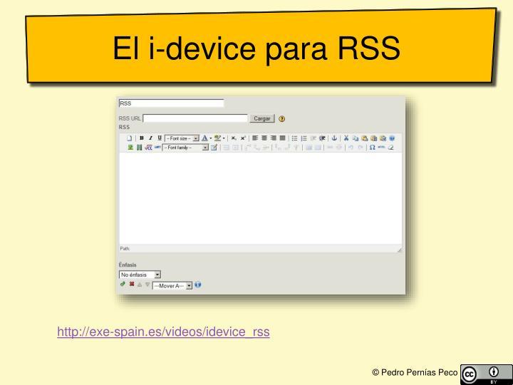 El i-device para RSS