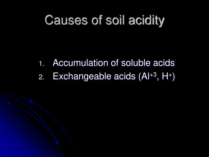 Causes of soil acidity