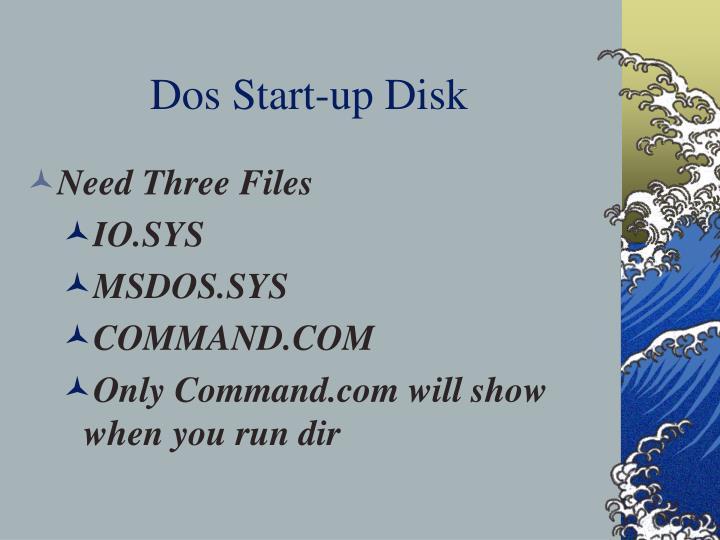Dos start up disk
