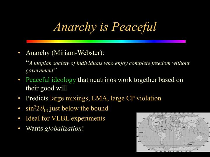 Anarchy is Peaceful