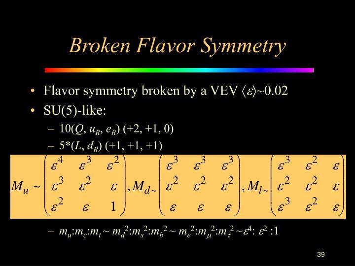 Broken Flavor Symmetry