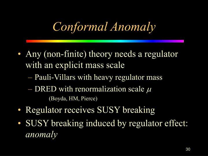 Conformal Anomaly