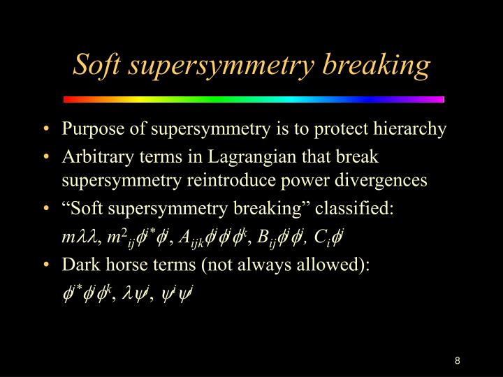 Soft supersymmetry breaking