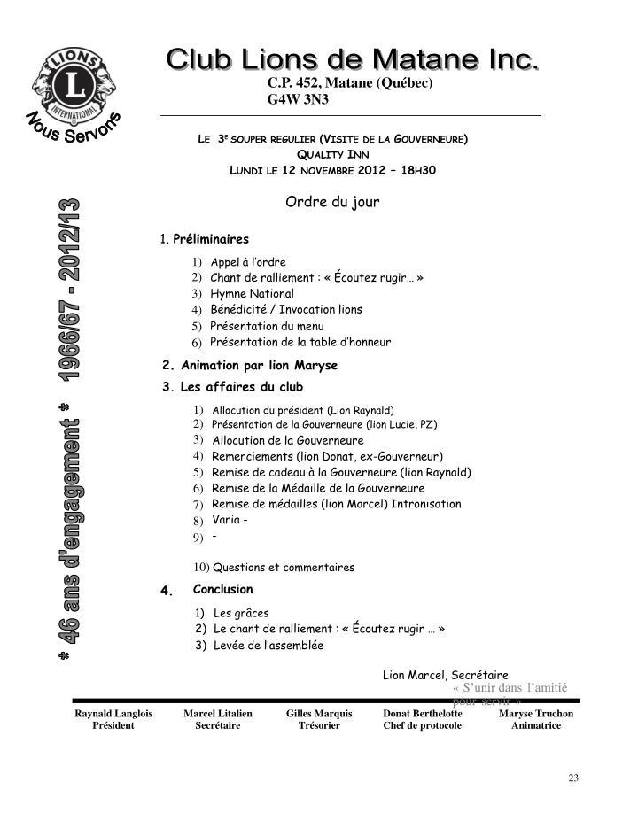 C.P. 452, Matane (Québec)