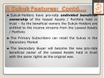 a sukuk features contd