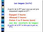 les langues suite