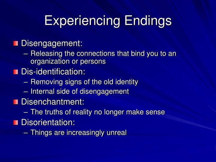 Experiencing Endings