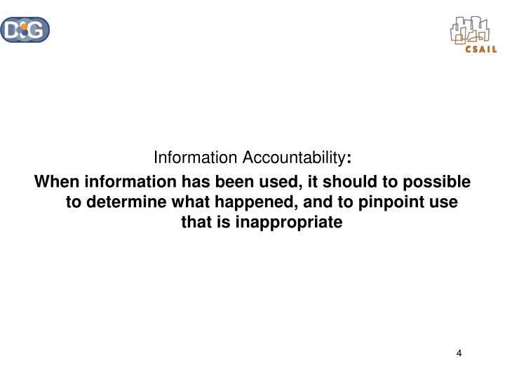 Information Accountability