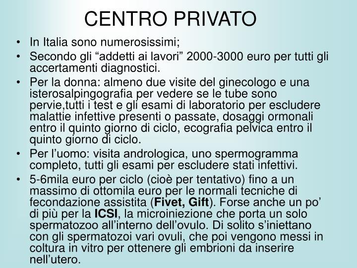 CENTRO PRIVATO