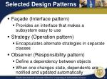 selected design patterns