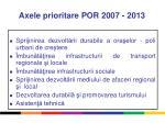 axele prioritare por 2007 2013