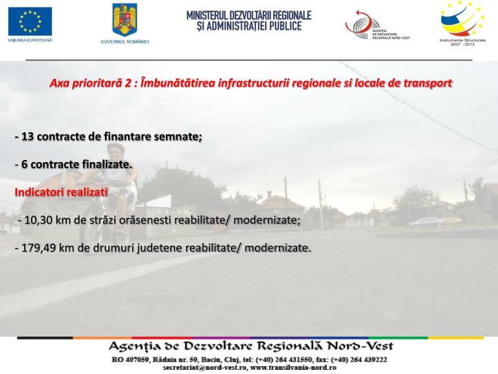 Axa prioritară 2 : Îmbunătătirea infrastructurii regionale si locale de transport