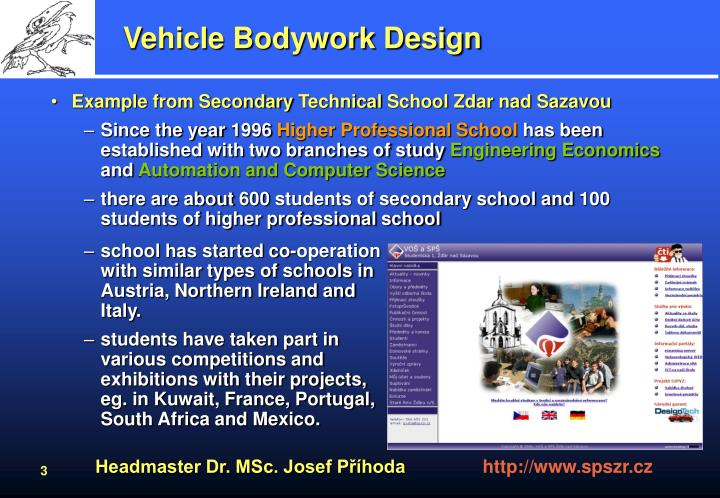 Vehicle bodywork design