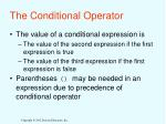 the conditional operator1