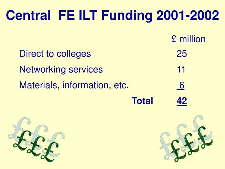 Central  FE ILT Funding 2001-2002
