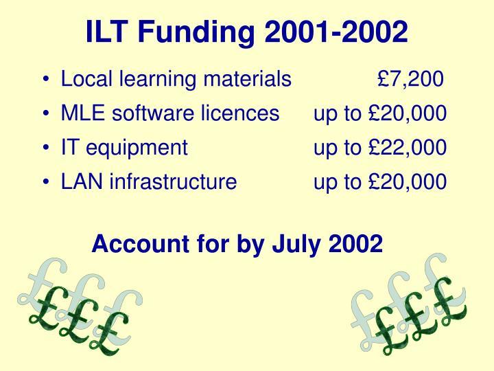 ILT Funding 2001-2002