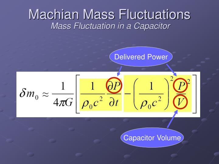 Machian mass fluctuations1
