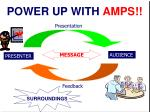 power up with amps