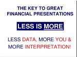 the key to great financial presentations