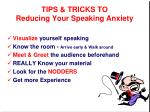 tips tricks to reducing your speaking anxiety