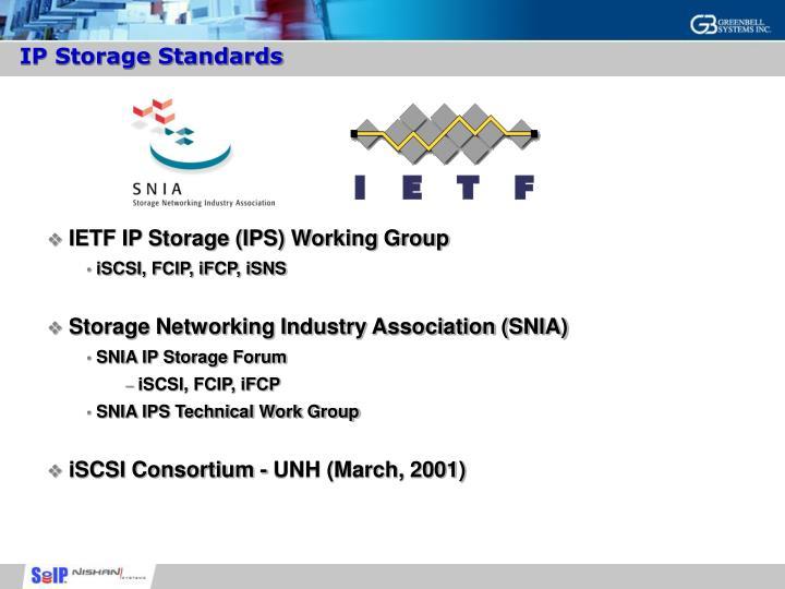 IP Storage Standards