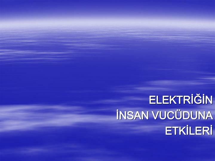 ELEKTRİĞİN