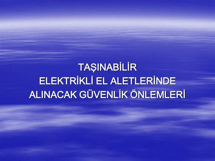 TAŞINABİLİR