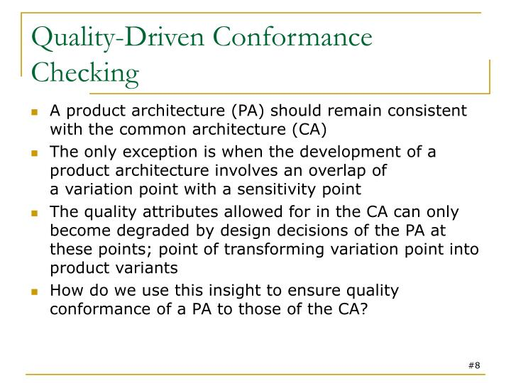 Quality-Driven Conformance Checking