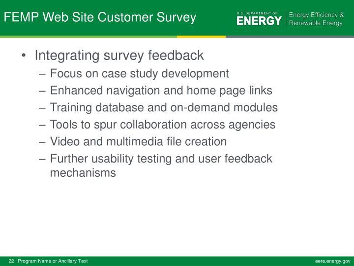 Integrating survey feedback