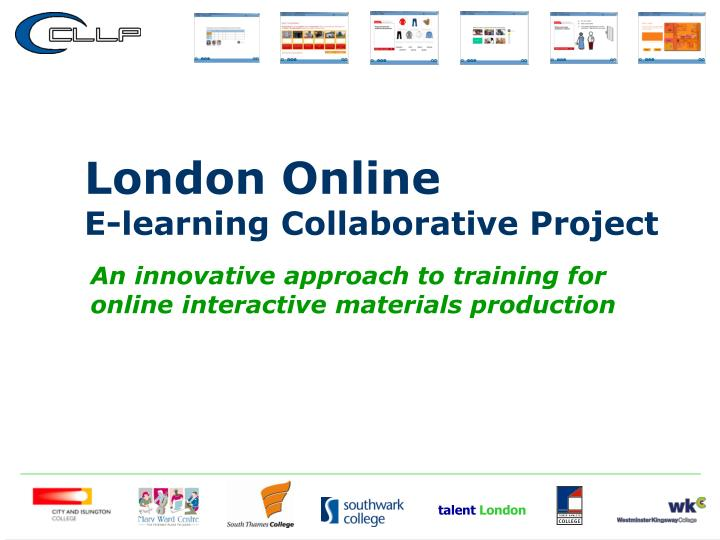 an innovative approach to training for online interactive materials production