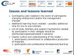 issues and lessons learned1