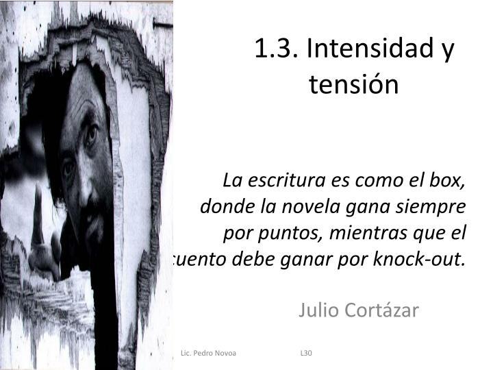 1.3. Intensidad y tensión