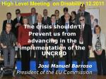 high level meeting on disability 12 2011