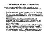 1 affirmative action is ineffective