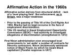 affirmative action in the 1960s